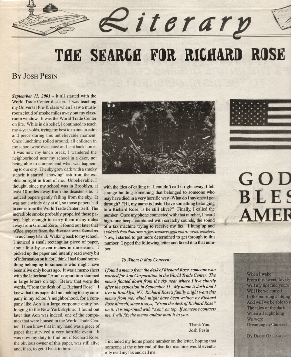 The Search For Richard Rose (top)